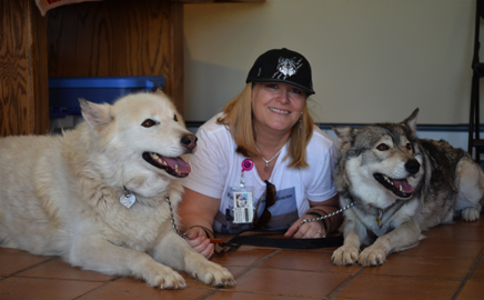 """Auntie"" Andrea with Shunka and Shadow"